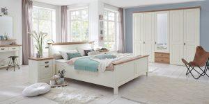 Nordic Dreams Schlafzimmer Bett Kleiderschrank romantisch Landhaus klassische Landhausmöbel