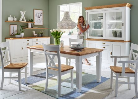 Nordic-Home-Landhaus-massiv-RAL9010-speisen-sideboard-aufsatz-funktionstisch-stuhl