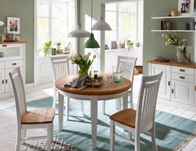 Nordic-Home-Landhaus-massiv-RAL9010-speisen-highboard-sideboard-wandregal-funktionstisch_rund-stuhl