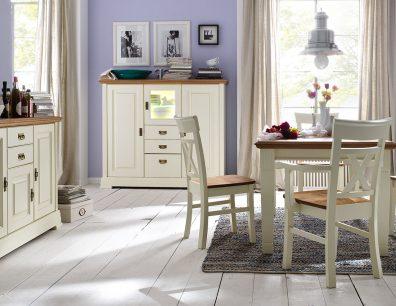 Nordic-Home-Landhaus-massiv-champagner-speisen-sideboard-highboard-funktionstisch-stuhl