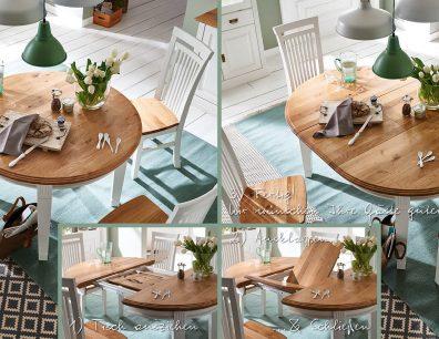 Nordic-Home-Landhaus-massiv-RAL9010-Wildeiche-speisen-funktionstisch_rund-ausgezogen-stuhl-txt-g