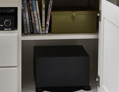 Subwoofer Einsatz Integration TV-Bank TV-Lowboard