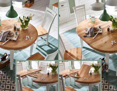 Nordic-Home-Landhaus-massiv-RAL9010-speisen-funktionstisch_rund-ausgezogen-stuhl