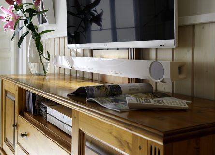 Kabelmanagemant Funktionspaneel mit Soundbar TV-Bank TV-Lowboard